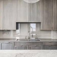 light gray stained kitchen cabinets gray quartz countertops design ideas