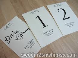 Table Numbers Wedding Table Numbers