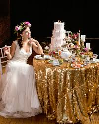 sequin tablecloth rental in shoot at the berg ultrapom wedding and