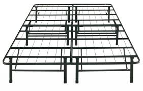 Platform Metal Bed Frame Black Steel Bed Frame With Bars On The Counter Top Combined With