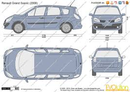 renault grand scenic 2005 the blueprints com vector drawing renault grand scenic