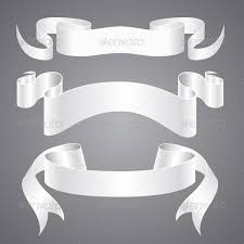 paper ribbons white paper ribbons by robisklp graphicriver