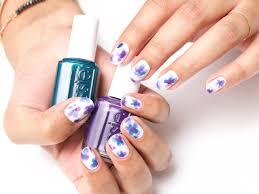get floral with this watercolor nail art essie essie gel