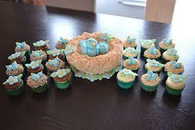 bird baby shower blue bird mamma and baby bird in a coconut cake nest chocolate