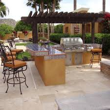 winning outdoor kitchen with freestanding grill smoker remodel