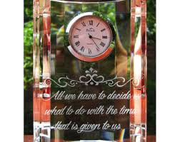 engraved clock etsy