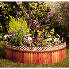 brown wooden raised flower bed ideas with door furniture