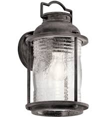Kichler Outdoor Wall Sconce Kichler 49569wzc Ashland Bay Weathered Zinc 6 Inch 1 Light