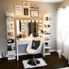 Bedroom Makeup Vanity With Lights Setup For A Vanity Pinterest Miabutler