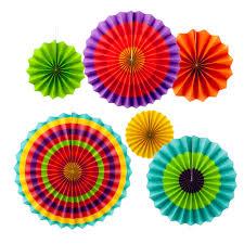 paper fan decorations 6 new paper fan decoration colorful fans cinco de mayo