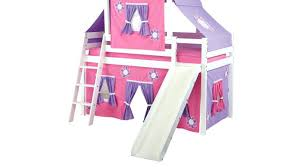 Bunk Bed With Slide And Tent Loft Bed With Slide Sturdy But Youthfully Styled This Coaster Bunk