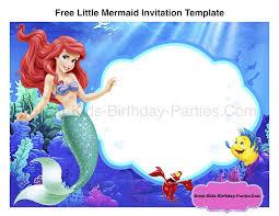 little mermaid birthday invitations free printables printable