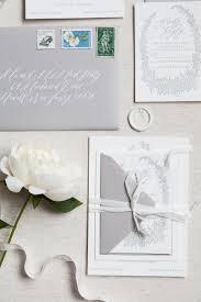 gray letterpress invitations calligraphy invitations silk