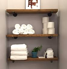 open shelving 8 depth industrial floating shelf rustic wall shelves