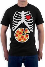skeleton pizza xray ribcage pizza lover gift idea t shirt funny
