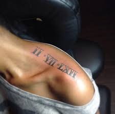 35 roman numerals tattoos for shoulder