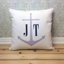 honey moon gifts anchor initials pillow cover wedding pillow honeymoon gift
