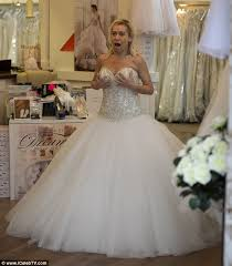 wedding dresses liverpool tina malone tries on wedding dresses before renewing vows daily