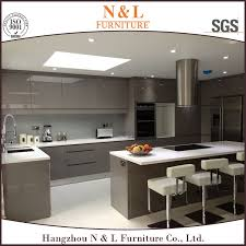 Customized Modern KitchenHigh Gloss Lacquer Finish Kitchen - Finish for kitchen cabinets