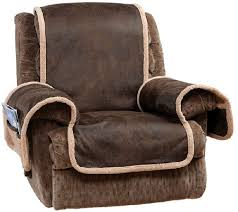 sure fit reversible faux leather sherpa recliner furniture cover