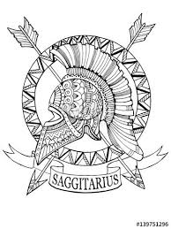 sagittarius zodiac sign coloring page for adults fotolia