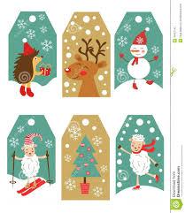 colorful christmas gift tags stock vector image 48407142