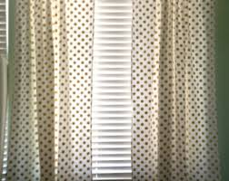 Gold And White Curtains White Gold Curtain Etsy