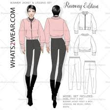 women u0027s fashion sketch templates u2013 illustrator stuff