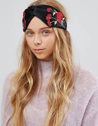 knotted headband lyst aldo floral knotted headband in black