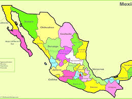 Map Of Mexico With States Map Of United States States With And Capitals Pleasing Map Of