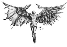 angel vs demon tattoo design photo 11 2017 real photo pictures