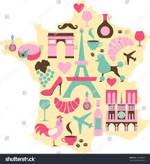 A Map Of France by Map France Set French Symbols Stock Vector 118764058 Shutterstock