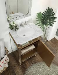 24 u201d mirror reflection gold asger powder room bathroom sink vanity