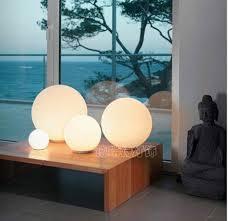 modern table lighting with plug opal glass desk lamp for