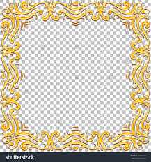 vector border golden frame gems oriental stock vector 410030116