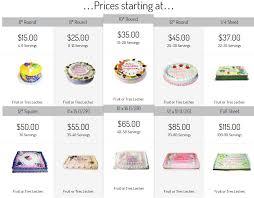 cake prices cakes prices nani s etc