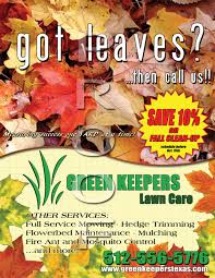 Landscaping Advertising Ideas Some Recent Fall Marketing Material Ideas Gopherhaul