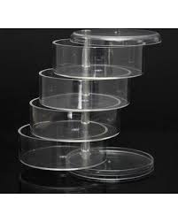 amazing deal on acrylic clear rotating makeup cosmetic storage