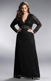 Black And Gold Lace Prom Dress Black Plus Size Lace Long Prom Dresses Deep Plunging Neck Long