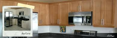 kitchen cabinet refacing before and after sears cabinet refacing