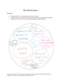 decision space worksheet oite careers blog