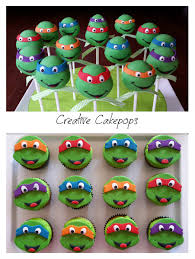Halloween Cake Pops Recipe Ninja Turtle Cake Pops And Cupcakes Tmnt Cakepops Cupcakes My