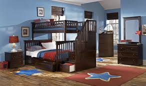 Twin Over Full Bunk Bed With Stairs Atlantic Furniture Columbia Staircase Bunk Bed Twin Over Full
