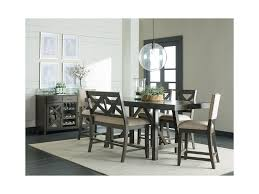 Standard Furniture Dining Room Sets Standard Furniture Omaha Grey 6 Piece Counter Height Trestle