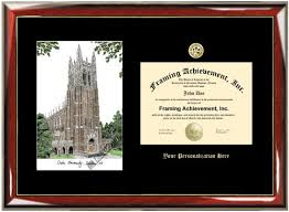 of alabama diploma frame gold embossed duke lithograph horizontal