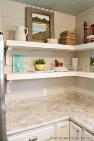 how to add diy open shelving using home depot brackets the harper house