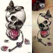 2015 fashion butterfly flower skull style