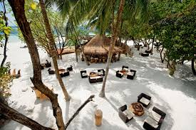 Tropical Island Resort Peel And Tropical Beach Bar In Maldives Luxurious Resort With White Sands