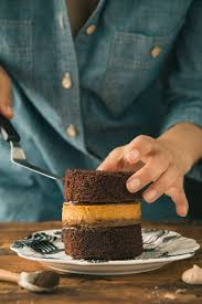 chocolate and pumpkin pie layer cake the road to honey
