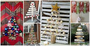 and cheerful diy christmas decorations made of pallets
